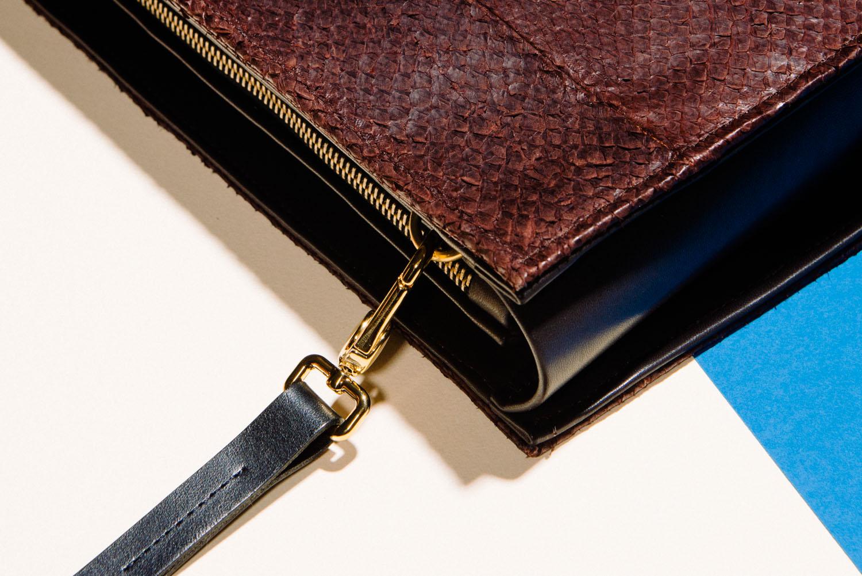 fish leather handbag