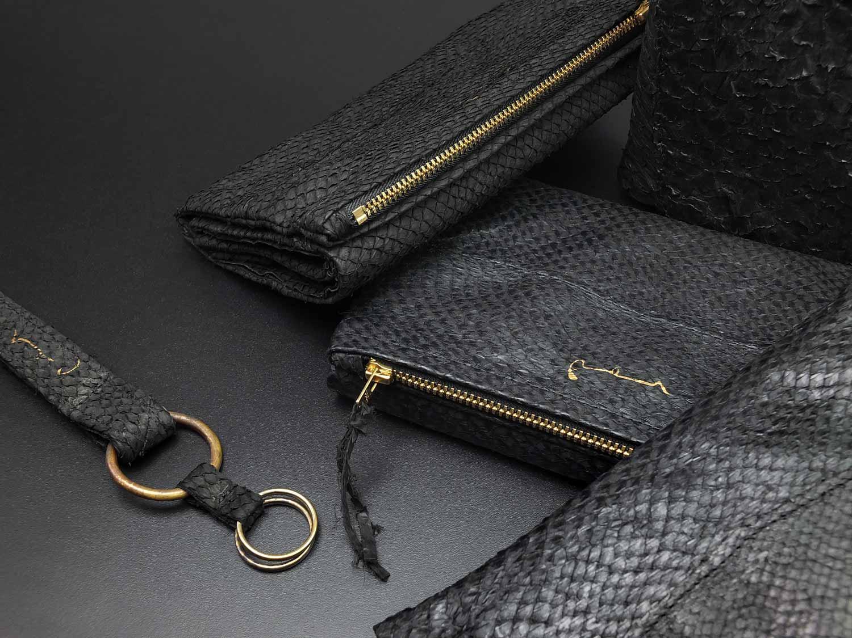 Lachsleder Tasche Luxus