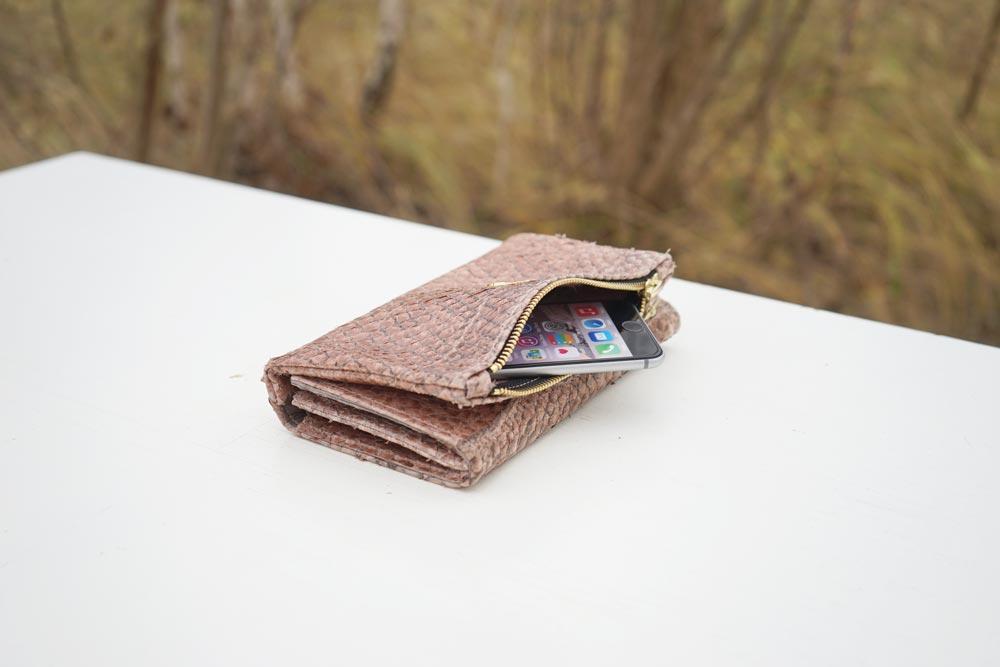 Handtasche Portemonnaie Fischleder