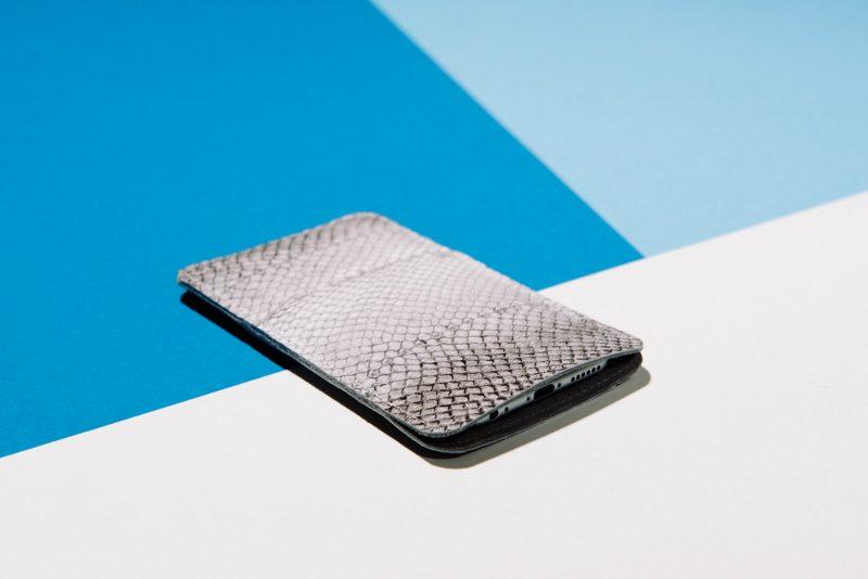 Handy Hülle Smartphone Case Fischleder