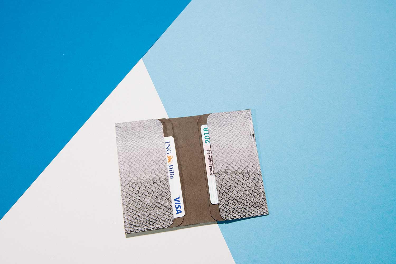 Business Card Holder handmade in Germany from fishleather itenkartenhalter Rothoell