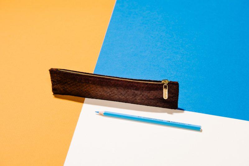 Etui für Stifte aus Fischleder