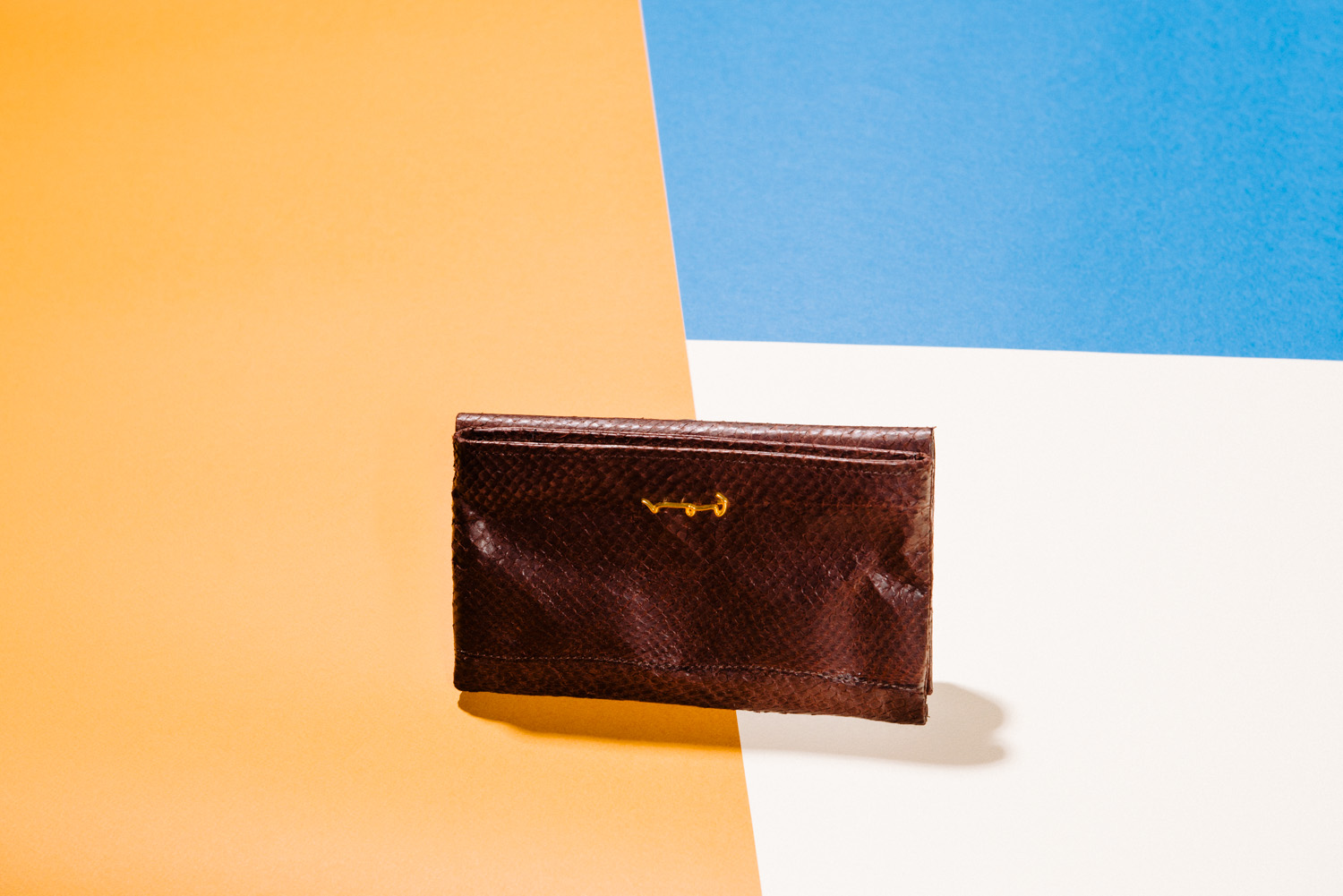 rothoell fish leather purse