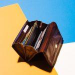 fish leather purse