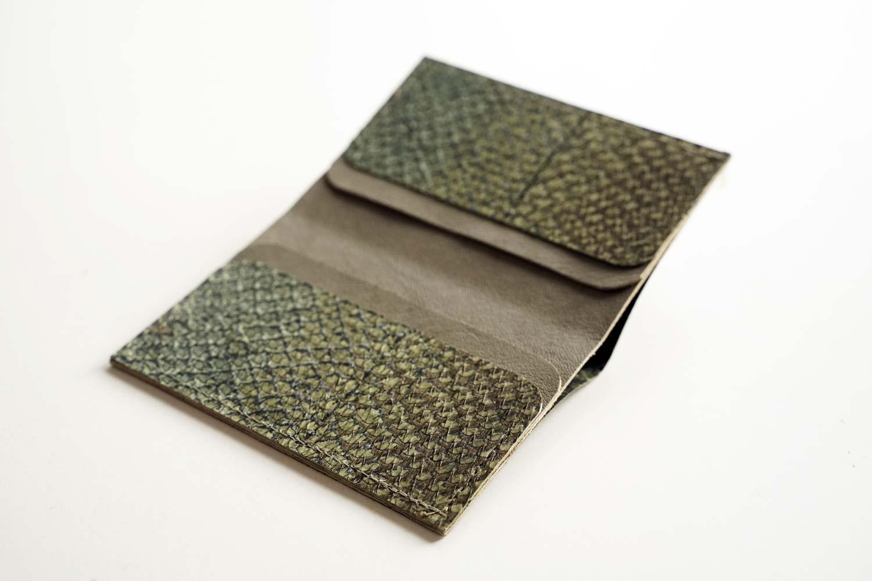 Visitenkartenhalter Geldbörse Fischleder