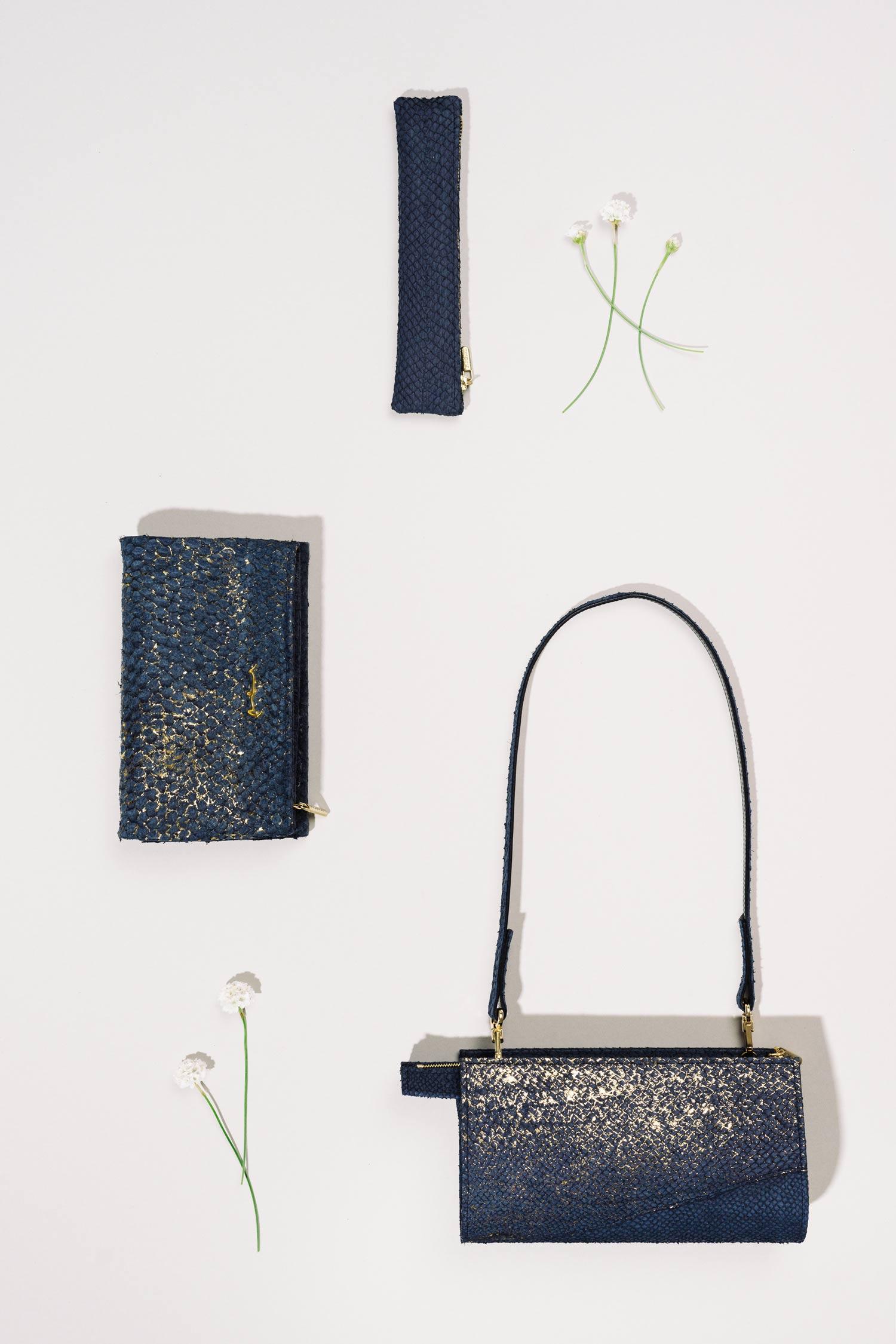 Taschen und Accessoires aus Lachsleder