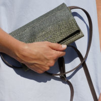 Handtasche aus Lachsleder Rothöll