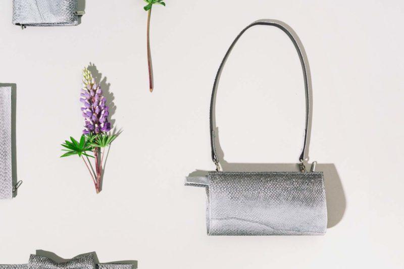 Handtasche aus isländischem Lachsleder
