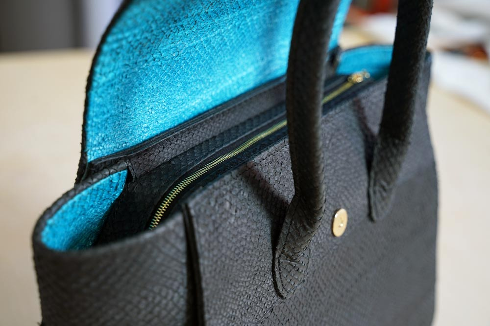 Tasche aus Fischleder