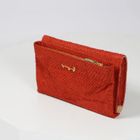 Portemonnaie aus rotem Lachsleder