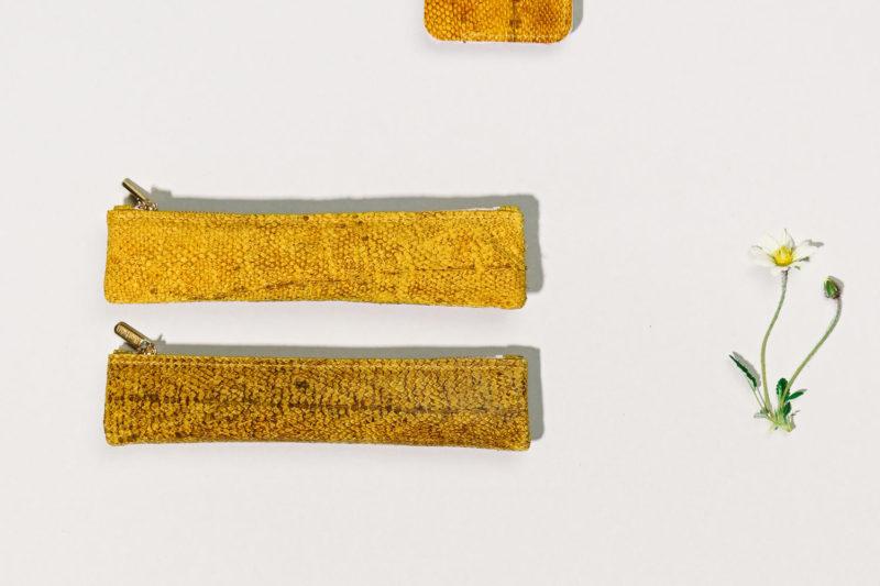Etui für Stifte aus isländischem Dorschleder