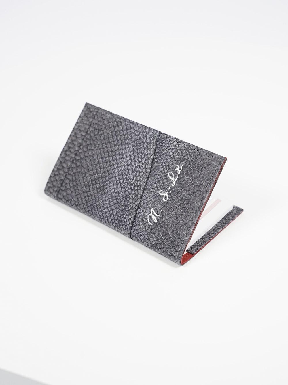 Umschlag für Plankalender aus Lachsleder