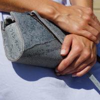 Handtasche aus isländischem Dorschleder