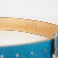 Gürtel aus Lachsleder von Rothöll Lederhandwerk